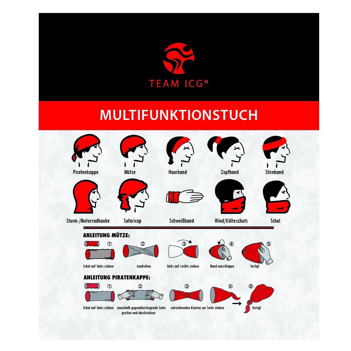 multifunktionstuch team icg indoorcycling shop. Black Bedroom Furniture Sets. Home Design Ideas